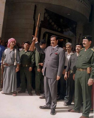 El ex presidente de Iraq, Saddam Hussein, días antes de la guerra contra EE.UU. Autor:begad3